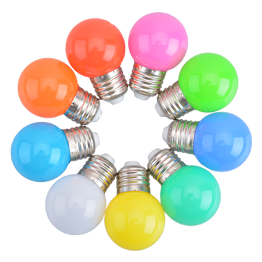 LED Color Bulb G45