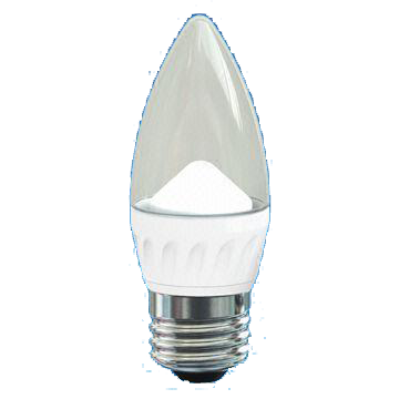 4W LED Deco Dim Candle Bulb with Transparent Cover, 25,000 Hours Lifespan and 220 to 240V Voltage
