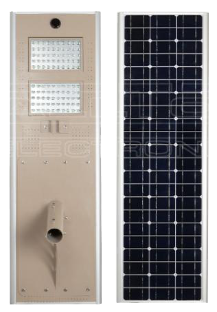 80W All-In-One Solar LED Street Light with Microwave induction