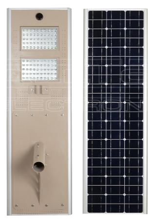 120W All-In-One Solar LED Street Light with Microwave induction