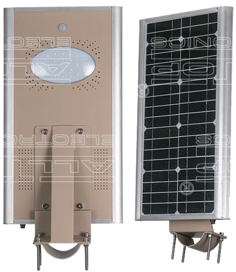 12W All-In-One Solar LED Street Light with sensor-1