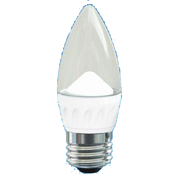 Candle 3.5W LED Deco Bulb with Transparent Cover, 25,000 Hours Lifespan and 100 to 240V Voltage