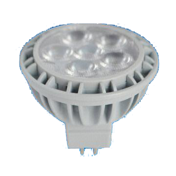 Dimmable MR16 7W LED Bulb with 25,000 Hours Lifespan and 12V AC/DC Rated Voltage